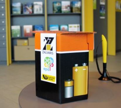 Used batteries collection at Lithuania Post offices