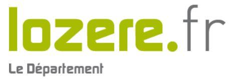 Departement of Lozère, France