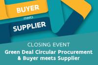 buyer meets supplier green deal circular procurement