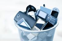 Electronic waste in a basket