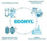 Used nylons, mainly from the fishing industry, are gathered, reprocessed and turned into an innovative ecological nylon material, called econyl. They are afterwards sold for further use.