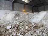 Gypsum is indefinitely recyclable, yet waste from construction, renovation and demolition is still estimated at 2.350.000 ton/year in EU27