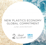 New Plastics Economy Global Commitment June 2019 Report logo