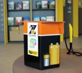 Collection bins in post offices make it easy for customers to dispose of used batteries in a sustainable manner