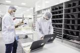 Engineers inspecting quality @ Circular Computings laptop remanufacting facility
