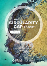 Cover of the Circularity Gap Report, Norway