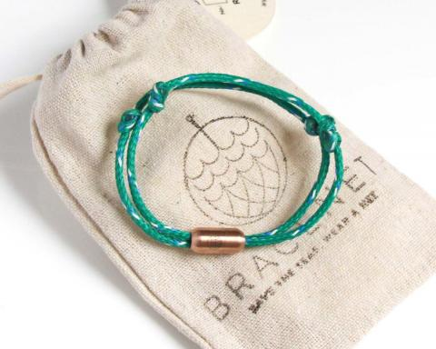 Bracenet adriatic sea bracelet from discarded fishing nets