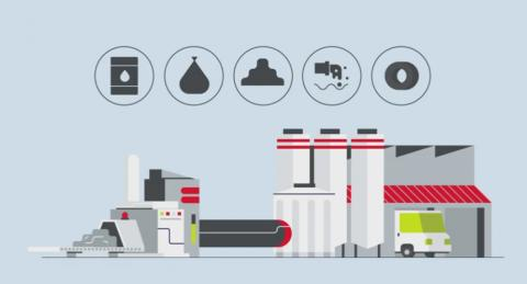 Cement production plant (illustration)