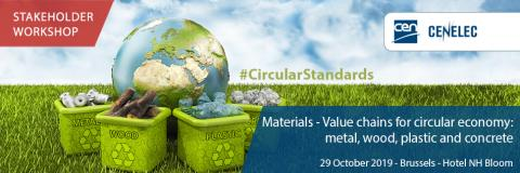 Materials - value chains for circular economy: metal, wood, plastic and concrete