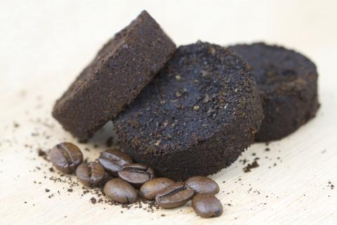 Image of used coffee grounds