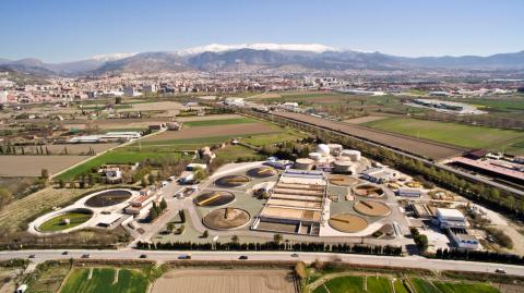 Aerial view of the Waste Water Treatment Plant in Granada, now transformed into a Biorefinery.