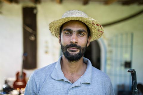 Amine, founder of Mornag Eco farm, an ecological farm in Tunisia