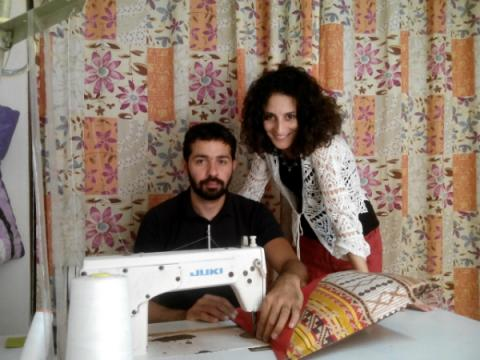 Nardjess Mokhtari and Anis Ouazene founders of the¨Atelier Le Printemps in Algeria