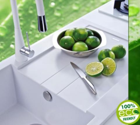 A new range of green kitchen sinks