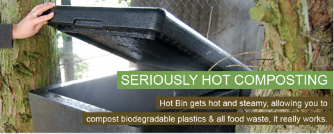 In the hot bin, due to its high insulation value , the contents attains a temperature of 60-70oC, enough for biodegradable plastics and food to compost