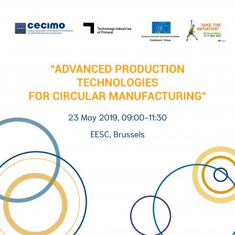 Banner CECIMO Event on 23 May 2019