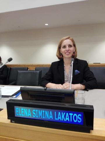 Lakatos at UN meeting