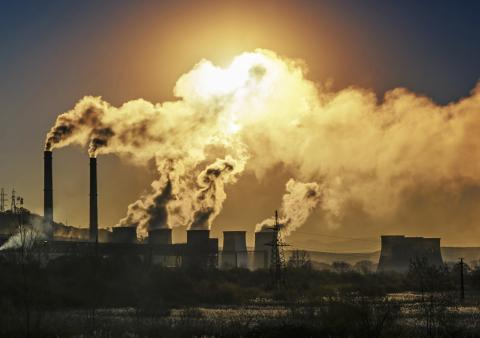 Photo of industrial pollution
