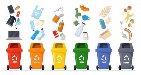 sorted rubbish