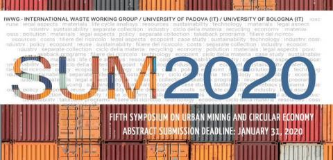 5th Symposium on Urban Mining and Circular Economy