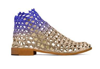Verdura's Woman Boot made with recycled fishing net