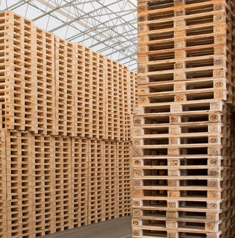 Reuse and recycling of loading pallets